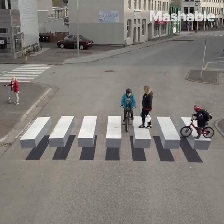 This crosswalk looks like it's f